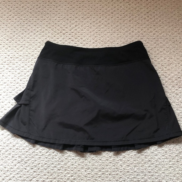 Ivivva Other - Ivivva Black Set the Pace Ruffle Skirt 14 girls
